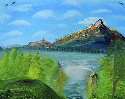 Chance Kafka - Mountain Lake Waterfall