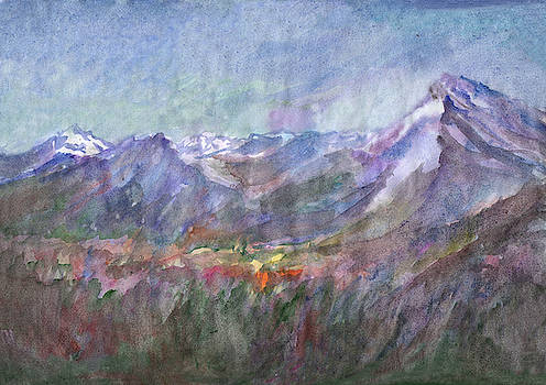 Mountain Landscape 3 by Dobrotsvet Art
