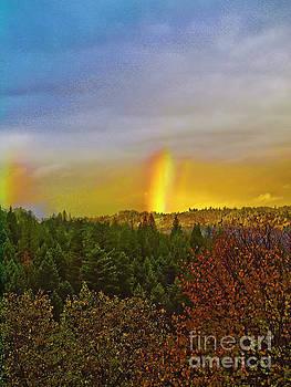 Mountain rainbows RANCH011 by Howard Stapleton