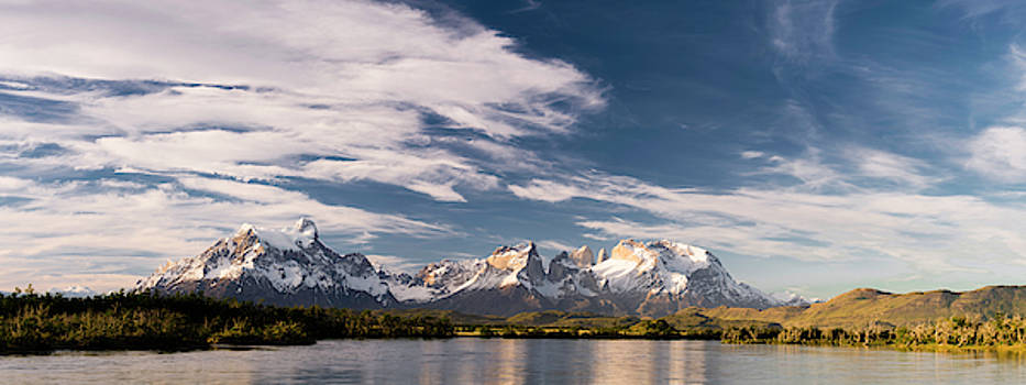 Mountain Range At Sunset Seen From Rio by Panoramic Images