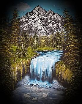 Mountain views so beautiful dark  by Angela Whitehouse