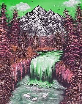 Mountain views so beautiful green by Angela Whitehouse