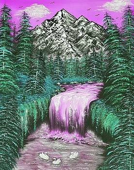 Mountain views so beautiful pink by Angela Whitehouse