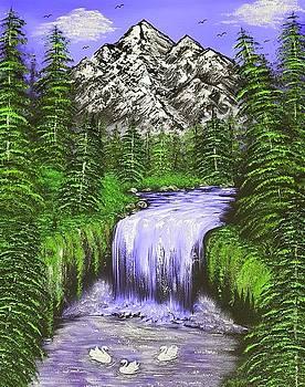 Mountain views so beautiful purple  by Angela Whitehouse