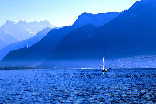 Mountains across Lake Geneva by Jeremy Hayden