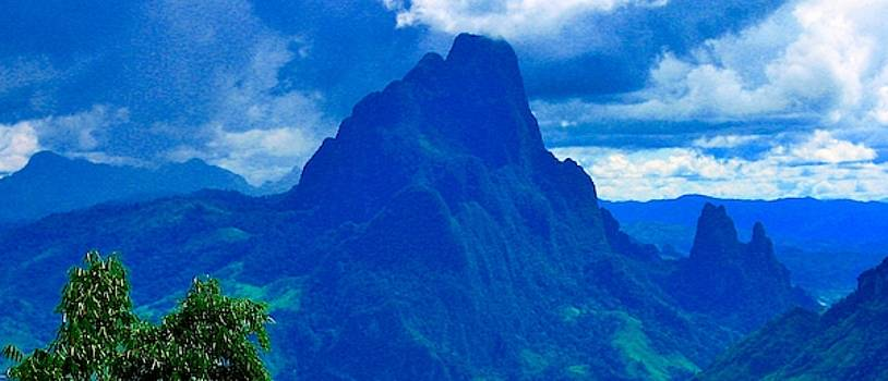 Mountains of Northern Laos by David Wells