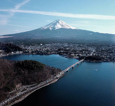 Mt. Fuji over Fujikawaguchiko by Nate Richards