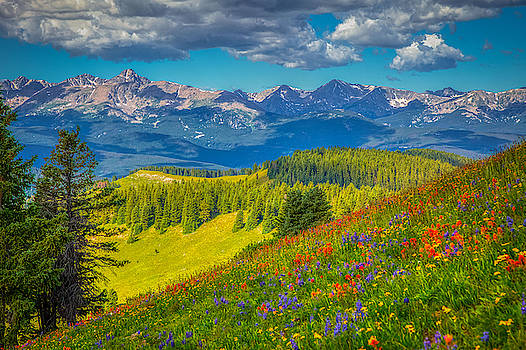 Mt of the Holy Cross from Shrine Pass by Fred J Lord