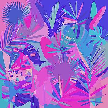 Multicolor Abstract Tropical Leavs by Gabriella Weninger - David