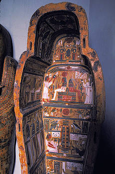 Mummy Sarcophagus in Egypt by Carl Purcell