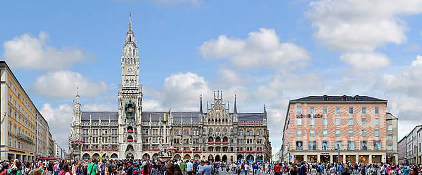 Munich Marienplatz and City Hall by Joerg Dietrich