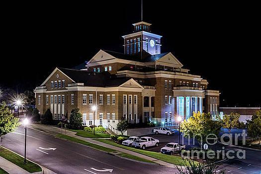 Municipal Center at Night - North Augusta SC by Sanjeev Singhal