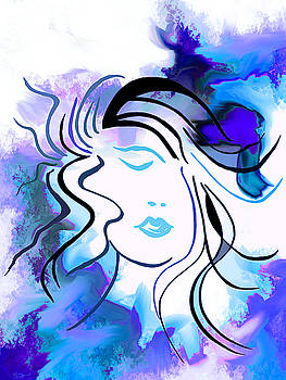 Muse dreaming in her colors by Abstract Angel Artist Stephen K