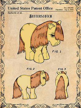 Greg Edwards - My Little Pony Butterscotch Antique Paper Colorized Patent