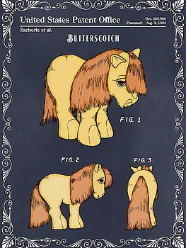 Greg Edwards - My Little Pony Butterscotch Blackboard Colorized Patent Print