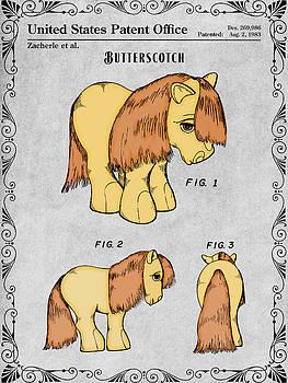 Greg Edwards - My Little Pony Butterscotch Gray Colorized Patent Print