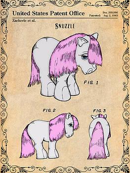 Greg Edwards - My Little Pony Snuzzle Antique Paper Colorized Patent Print