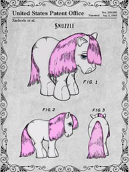 Greg Edwards - My Little Pony Snuzzle Gray Colorized Patent Print
