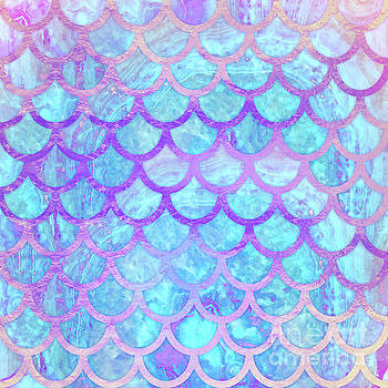 Tina Lavoie - Mystical Mermaid Colorful Mermaid Tail Scales Pattern