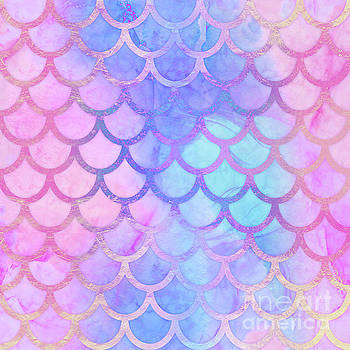Tina Lavoie - Mystical Mermaid II Colorful Mermaid Tail Scales Pattern