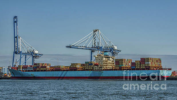 Cargo Ship - Charleston Dockside by Dale Powell