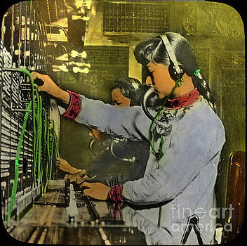 California Views Archives Mr Pat Hathaway Archives - An Early Chinese telephone operator in Chinatown, San Francisco,