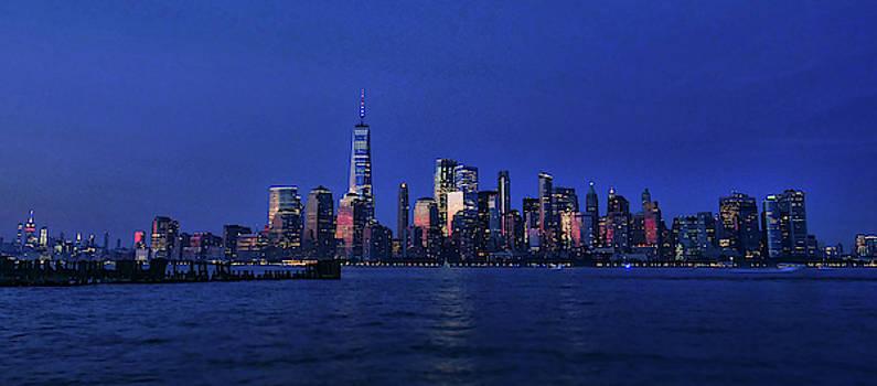 N Y C Skyline - Empire State to Lower Manhattan by Allen Beatty
