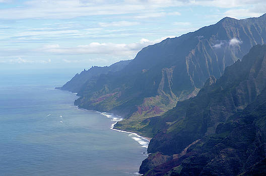Na Pali Coast aerial photography by Alina Oswald