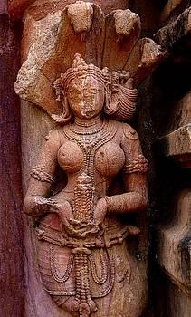 Naga at Mukteswara Temple, Orissa, India by David Wells