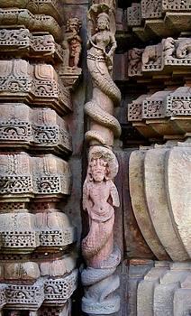 Nagas at Rajarani Temple, Orissa, India by David Wells