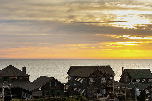 Nags Head Cottages at Sunrise by Mike O'Shell
