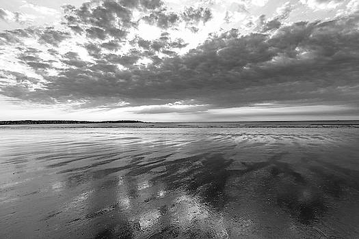 Toby McGuire - Nahant Beach Sunrise Reflection Nahant MA Black and White