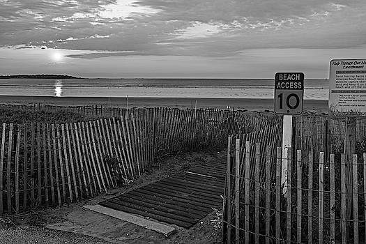Toby McGuire - Nahant Sunrise Beach Access 10 Nahant MA Nahant Beach Black and White