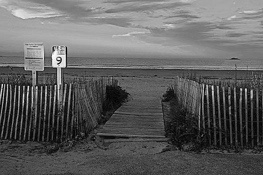 Toby McGuire - Nahant Sunset Beach Access 9 Nahant MA Nahant Beach Black and White