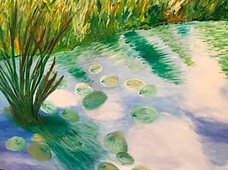Naples Botanical Gardens Lily Pond by Susan Grunin