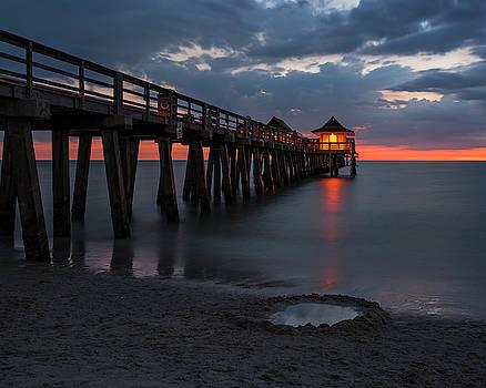 Toby McGuire - Naples Pier at Blue Hour Naples Florida Sunset