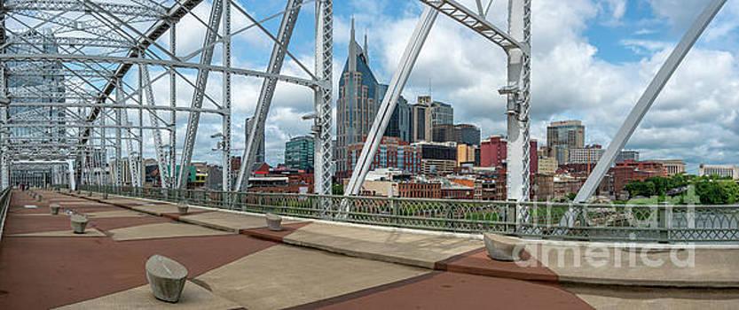 Nashville Cityscape from the Bridge by David Smith