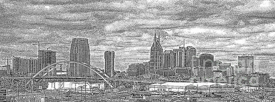 Reid Callaway - Nashville Tennessee In Dots Country Music Capital Tennessee Cityscape Art