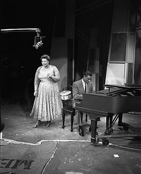 Nat King Cole Performs With Ella by Cbs Photo Archive