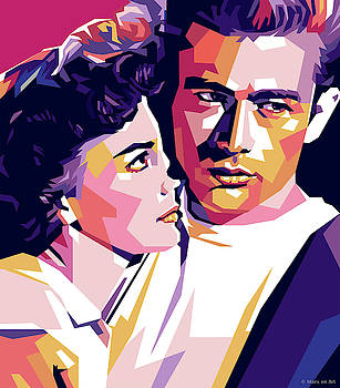 Natalie Wood and James Dean by Stars-on- Art