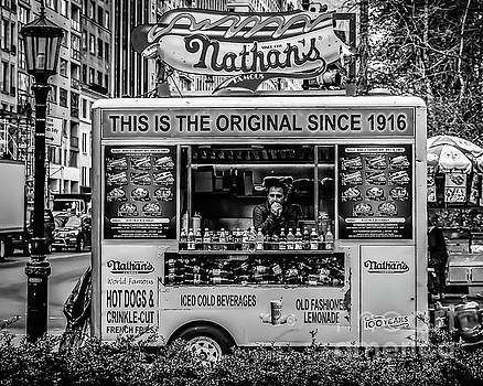 Nathans Food Truck B and W by Thomas Marchessault