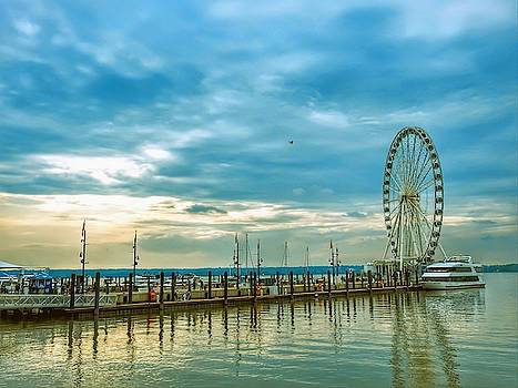 National Harbor Maryland In The Potomic by Kathy Gail