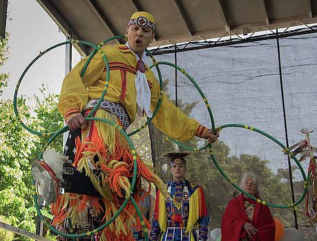 Native American Hoop Dancer by Alan Goldberg