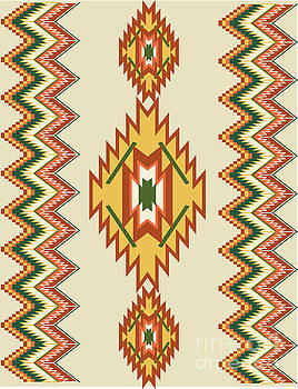 Native american rug by Shelley Myers
