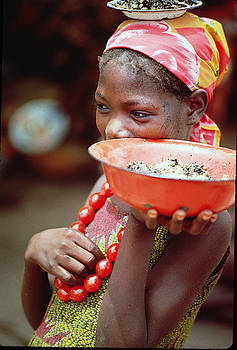 Native Girl in Niger by Carl Purcell