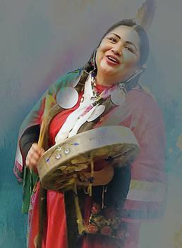 Native woman by Jeff Burgess
