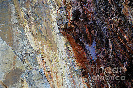 Natural Cave Wall ... abstract 4  by Elaine Manley