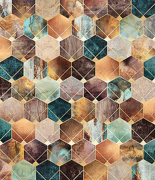 Natural Hexagons And Diamonds by Elisabeth Fredriksson