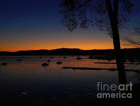 Felipe Adan Lerma - Nautical Sunrise Mount Mansfield from Malletts Bay