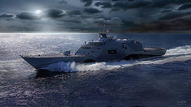 James Vaughan - Navy - USS Freedom - moon light